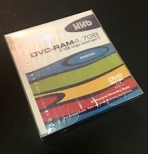 4x New Factory Sealed HHB 4.7GB Single Sided Rewritable DVD-RAM Disk 4 Pack