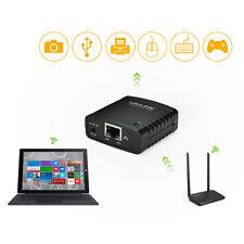 100Mbps USB2.0 LPR Printer Network Server Print Share LAN Networking&USB Hub