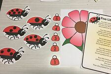 Ladybug Flannel Board Set - Laminated Activity Set - Teaching Supplies