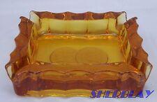 """Vintage Fostoria COIN GLASS AMBER Ashtray 3 3/4"""" X 3"""""""