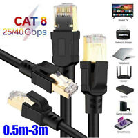 Cat8 Network Cable Ethernet High Speed 2000Mhz 25/40Gbps RJ45 Connector Cord LOT