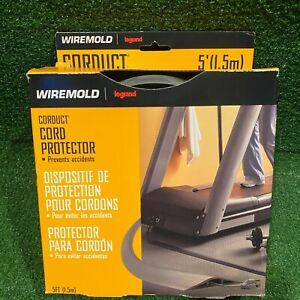 NIB Legrand CORDUCT WIREMOLD Gray 5' of Cord Protector with Two Sided Tape