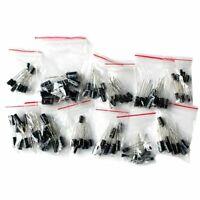 120pcs 12 Values 1uF-470uF Electrolytic Capacitors Assortment Kit