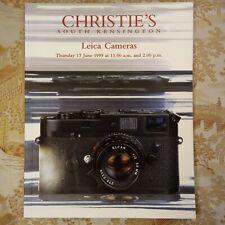 CHRISTIE'S Leica Cameras Auction Catalog 1999