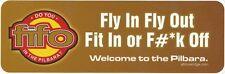 Pilbara FIFO Gold Background Bumper Sticker