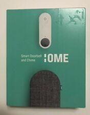 Ome Smart Doorbell and Chime in Charcoal Grey | Two-Way Audio | 2.4 GHz Wi-Fi Co
