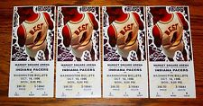 Indiana Pacers vs. Washington Bullets Oct 14 1996 Set of 4 sequential tickets