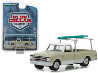 1:64 GreenLight *BLUE COLLAR 4* GREEN /& WHITE 1970 Chevrolet C-10 w//LADDER *NIP*