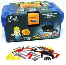 XL Kinder Werkzeugkoffer mit Bohrmaschine 31teilig Werkzeug Hammer und mehr