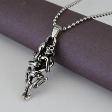 Halskette mit Anhänger Geschenk Edelstahl Herrenschmuck Liebe machen Totenkopf