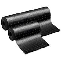 Tappeto gomma antiscivolo nero al metro h100 h200 copri pavimento bollato pvc