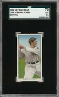 Rare 1909-11 T206 Admiral Schlei Batting Polar Bear New York SGC 70 / 5.5 EX+