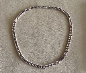 """Fabulous SOLID STERLING 925 SILVER Twisted Flat Curb Chain Necklace 16"""" - 30.3g"""
