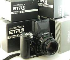 Bronica ETRSi con 75mm f2.8 Zenzanon PE lente, velocità e grip, 120 di Nuovo in Scatola * tutti *