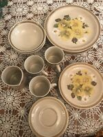 Country Living VTG. Japan. Stoneware-Butter Cup. Plates. Bowls. Mugs. Creamer.