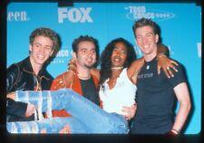 Justin Timberlake, Jc Chasez & Nsync Group Pose w/ Ananda Lewis Original Slide
