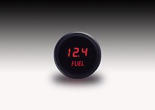 52mm 2 1/16 in Digital FUEL GAUGE Intellitronix Red LEDs! Black Bezel!!