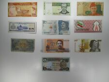 Mixed lot of 10 Foreign Banknotes World Paper Money Collections & Lots
