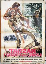 manifesto 2F film TARZAN Y EL MISTERIO DE LA SELVA José Luis Ayestaran 1975