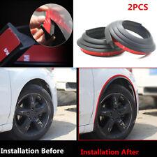 2 Pcs Rubber Pad Car Wheel Arch Trim Fender Flare Wheel Eyebrow Protector Strip