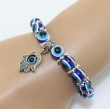 Charms Lampwork Glass Beads Evil Eye Bracelet Adjustable Stretch Fatima Hand