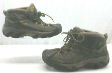 KEEN 1002375 Targhee II Mid Men's WP Brown Yellow Hiking Boots Size 9