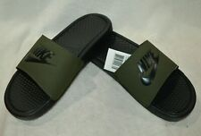 73a0e17fa0a6 Nike Benassi JDI Olive Green Black Men s Slides Sandals-Sz 9 10
