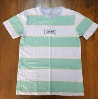 Globe International Mens SIZE S Embroidered Striped Faded Shirt Skate Streetwear