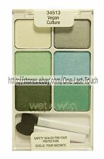 WET n WILD Color Icon #34513 VEGAN CULTURE 6 Pan Eye Shadow SILVER LAKE Palette