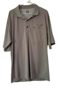 Columbia PFG Omni Shade Men's Vented Short Sleeve Polo Shirt Fish Hunt Size L