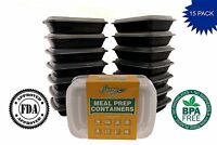 15 Pack PaczSaver Meal Prep Containers 2 Compartments Food Storage Boxes