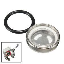 18mm Motorcycle Brake Master Cylinder Reservoir One Sight Glass Lens Gasket AU