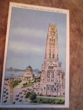 """OLD POST CARD  """"RIVERSIDE CHURCH AND GRANT'S TOMB, NEW YORK CITY UNUSED EXC COND"""
