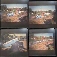 Original Slides x 4 Conrail Retired #3438 EMD SD40-2 Hauling Huge Load 2000s (d)