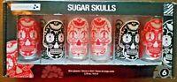 Sugar Skulls Shot Glasses Day Of The Dead Los Muertos Mexican Holiday Luminarc