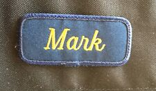 "Name Tag, ""Mark"",  3"" Patch."