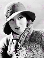 Vintage Photography Greta Garbo Black White Hat Actress Canvas Art Print
