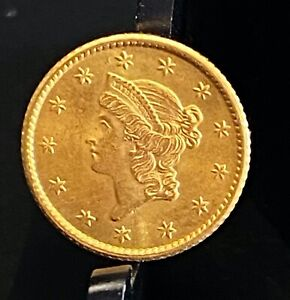 1853 Gold Liberty 1 One Dollar G$1 Coin