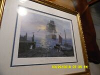 "Charles Vickery Lithograph ""Sailing Into History"", Signed By Artist. Limited!"
