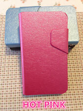 Nokia Lumia 620 Ultra Slim Wallet Flip stand Cover Case with card slots Hot Pink
