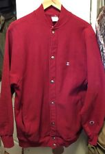 Vintage Champion Reverse Weave Button Up Sweater. Size L Made In Usa. Rare!