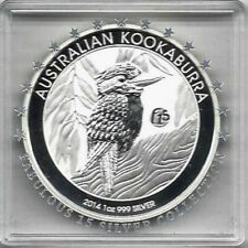 Kookaburra 2014 Privy Mark F15 Fabulous 15 1 Dollar 1 Unze Silber BU - selten!
