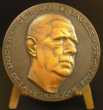 Medailleà à Charles de Gaulle Général Président de la République Coëffin medal