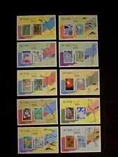 1987-89 Japanese Basyo Oku-no-Hosomichi Haiku Postage Stamps 10 sheets MNH #1