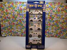 NEW YORK CITY POLICE DEPARTMENT 5 VEHICLE SET DARON DIECAST METAL ASSORTMENT