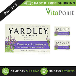 Yardley London Pure English Lavender Soothes & Moisturises Soap 120g / Pack Of 3