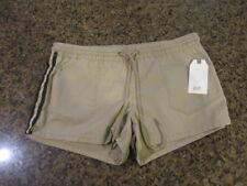 Jolt Khaki Shorts women brown sparkle stripe 13 31W NWT Nordstrom elastic pocket