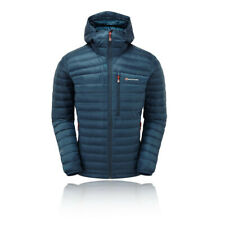 Montane Mens Featherlite Down Jacket Top Navy Blue Sports Outdoors Full Zip