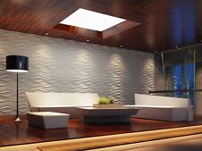 Eco-friendly ! Paintable, 3m2 DIY 3D Wall Panels, glue on wall tiles, Lake