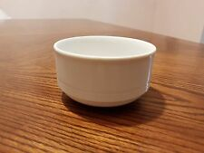 New BAUSCHER Germany Restaurant Ware White Embossed Lines Flat Cream Soup Bowl